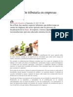 Planificación Tributaria en Empresas Agrícolas