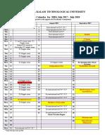 Academic Calendar MBA 2017-18