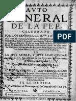 Auto General de La Fe 1649 (Auto general de la fee, celebrado por los señores, el Il.mo y r.mo Señor don Iuan de Mañozca, Arçobispo de México…11 de abril 1649)