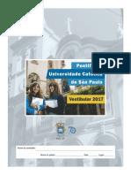 Prova PUC SP Verão 2017.4