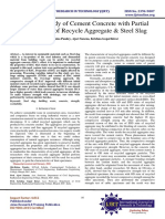 Analytical Study of Cement Concrete with Partial Replacement of Recycle Aggregate & Steel Slag