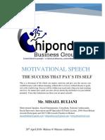 Motivational Speech-90 Years Malosa-misael Buliani