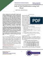 Experimental Study of Soil Stabilization using Soil Bond