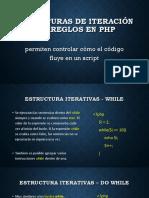Estructuras de Iteracion y Arreglos Php