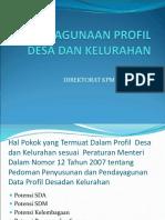 Presentasi Pendayagunaan Profil Desa Dan Kelurahan