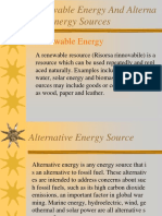 Renewable Energy in Alternative Energy Sources