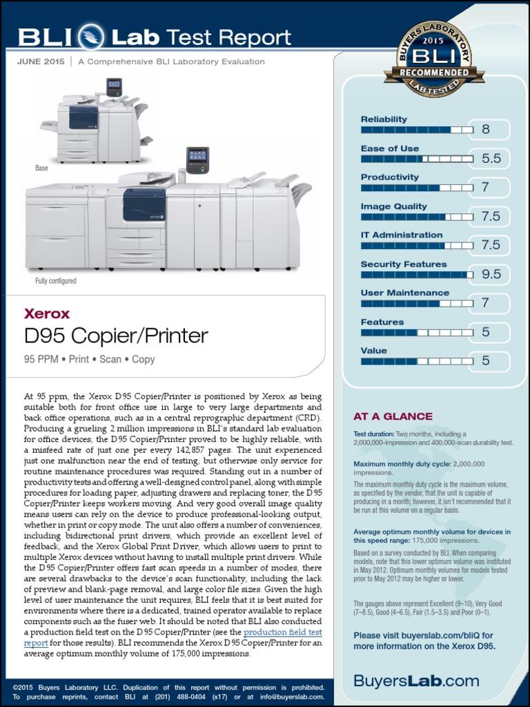 Xerox D95 Copier-Printer15 | Photocopier | Printer (Computing)