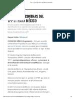 Pros y Contras Del TPP11 Para México _ Expansión
