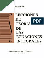 Lecciones de Teoría de las Ecuaciones Integrales, -  I. Petrovski.pdf