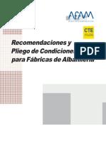 AFAM_Recomendaciones y Pliego de Condiciones para Fábricas de Albañilería.pdf