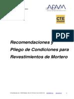 AFAM_Recomendaciones y Pliego de Condiciones para Revestimientos de Mortero.pdf