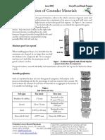 Gradation of Granular Materials