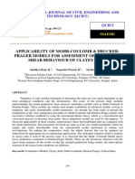 APPLICABILITY OF MOHR COULOMB AND DRUCKER PRAGER MODELS FOR ASSESSMENT OF UNDRAINED SHEAR BEHAVIOUR OF CLAYEY SOILS.pdf