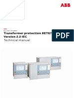 Technical Manual Transformer Protection RET670 Version 2.2 IEC
