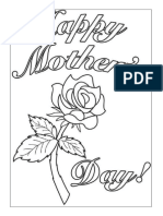 Mother Day Colouring