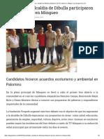 Candidatos a Alcaldía de Dibulla Participaron de Foro Abierto en Mingueo _ La Guajira Hoy.com