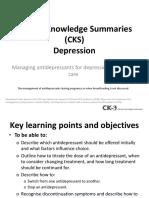 Depression Managing Antidepressants