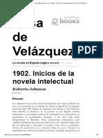 La Novela en España - 1902. Inicios de La Novela Intelectual