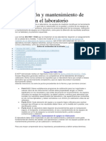 Calibración y Mantenimiento de Equipos en El Laboratorio