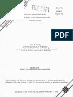 Cavitation Characteristics and Infinite Aspect Ration Characteristics of a Hydrofoil Section