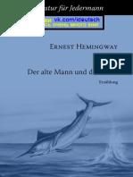 Hemingway Ernest Der Alte Mann Und Das Meer
