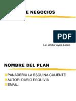 Ejemplo de Un Plan de Negocios