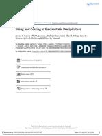 Sizing and Costing of Electrostatic Precipitators