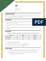 AMARTYA RAJ Resume f PDF