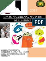 Informe de Analisis Sensorial