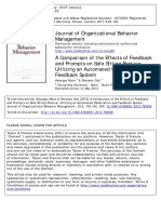 A Comparison of the Effects of Feedback