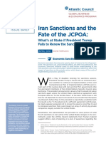 Iran Sanctions and the Fate of the JCPOA