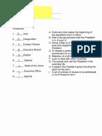 vocab quiz student samples