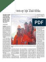 Harlinger trots op 'zijn' Zuid-Afrika