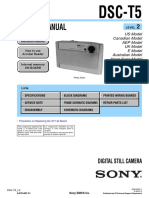 SonyCybershotDSC-T5 Service Manual