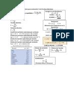 Formulario de Ecuaciones Unidad 1 de Circuitos Electricos 1 en UNEFM