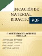 Clasificación de Materiales Didacticos