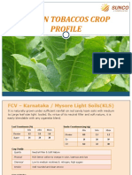 SUNCO Tobacco Indian FCV and Burley Tobacco Crop Profile
