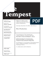 Tempest Synopsis and Program Note