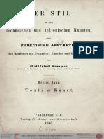 Gottfried Semper Der Stil In Den Technischen Und Tektonischen Künsten 1860