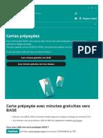 Cartes Prépayées BASE - Minutes, SMS Et MB Gratuites