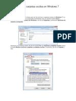 Ver Archivos y Carpetas Ocultos en Windows 7