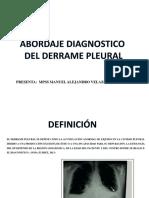 Abordaje Diagnostico Del Derrame Pleural (1)