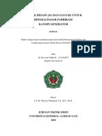 Studi & Desain Jig dan Fixture untuk Bingkai Dasar Fabrikasi Kanopi Generator