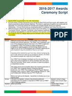 Awards Ceremony Script