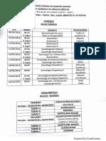 Cronograma Semiologia