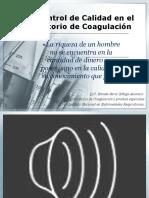 Control de Calidad Laboratorio de Coagulaciòn