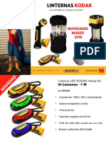 Novedades 1T 2018 gama de linternas LED Kodak