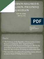 Mison vs Gallegos Diaz