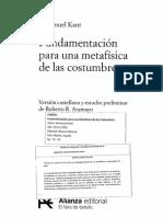 Kant - Fundamentación (Capítulo 2 [Sección] - El Imperativo Categórico)
