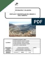 Ventajas y Desventajas de La Mineria a Cielo Abierto